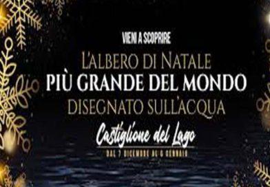 Castiglione del Lago (Pg): l'Albero di Natale da Record