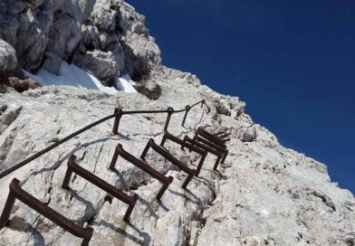 """SAT (società degli alpinisti tridentini) """" Riaperta la Via Ferrata Bocchette Alte """""""