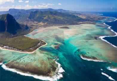 A Mauritius una cascata sott'acqua